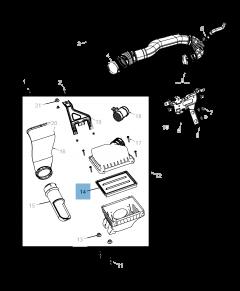 Filtre à air moteur pour Fiat Freemont
