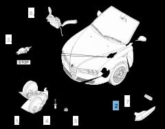 Clignotant latéral gauche pour Alfa Romeo