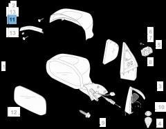 Clignotant latéral gauche pour Fiat Professional Strada