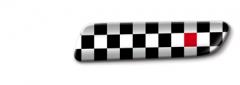 Badge à carreaux noirs