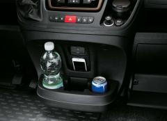 Porte-gobelet et compartiment de rangement sur la planche de bord pour Fiat Professional Ducato