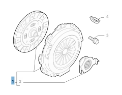 Kit embrayage (disque, plateau de pression et butée de débrayage)