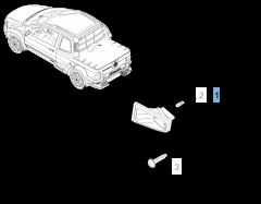 Feu de plaque droit pour Fiat Professional Strada