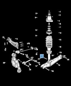 Amortisseur arrière 2 pc pour Lancia Flavia