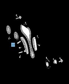 Tendeur de courroie réglable de chaîne de distribution pour Jeep Compass/Patriot