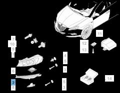 Phare avant droit avec DRL (feux de circulation diurne)