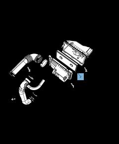 Filtre à air moteur pour Jeep Compass/Patriot