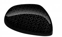Kit de coques de rétroviseurs noires effet «technics»