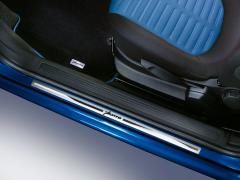 Barre de seuil en acier avec logo imprimé pour Fiat