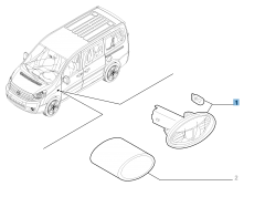 Clignotant latéral pour Fiat Professional Scudo