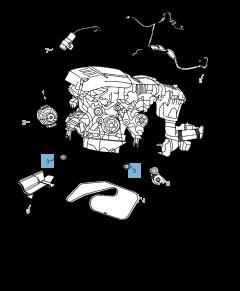 Tendeur de courroie fixe pour Jeep