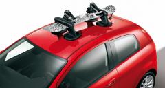 Porte-skis/snowboard magnétique de toit pour Fiat