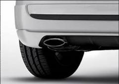 Sortie d'échappement en acier chromé pour Fiat 500