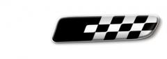 Badge sport noir sur fond blanc