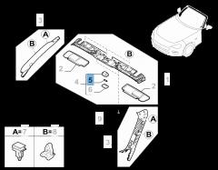Ampoule plafonnier avant 10W 12V