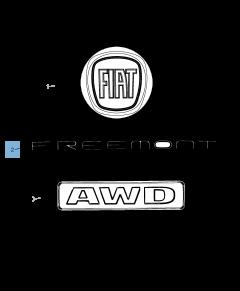 Sigle modèle Freemont arrière pour Fiat Freemont