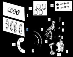 Plaquette de frein à disque avant (jeu de 4 pièces) pour Fiat Freemont