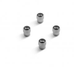 Bouchons de valves de pneus en finition chrome satiné