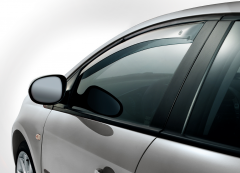 Déflecteurs anti-turbulences avant pour vitres latérales de véhicules Fiat