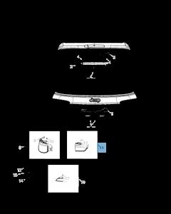 Ampoule hayon arrière gauche pour Jeep Compass