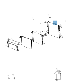 Radiateur de refroidissement moteur pour Jeep Wrangler