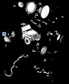 Clignotant latéral pour Jeep Wrangler