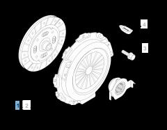 Kit embrayage (disque, plateau de pression et butée de débrayage) pour Fiat Professional Fiorino