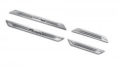 Seuils de porte en acier avec logo imprimé pour Fiat 500X