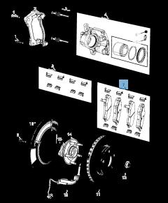 Plaquette de frein à disque avant (jeu de 4 pièces) pour Jeep Compass