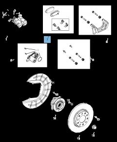 Plaquette de frein à disque arrière (jeu de 4 pièces) pour Jeep Compass