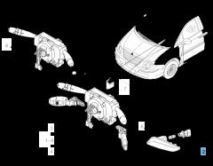 Clignotant latéral sur rétroviseur gauche