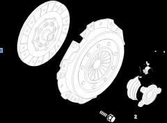Kit embrayage (disque et plateau de pression) pour Fiat Stilo