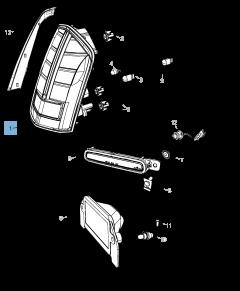 Feu arrière (position, stop et clignotant) pour Lancia Thema