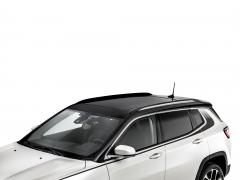 Barres longitudinales chromées de toit pour Jeep Compass