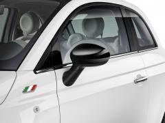 Coques de rétroviseurs noir brillant pour Fiat 500