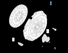Kit embrayage (disque et plateau de pression) pour Alfa Romeo 159