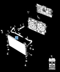 Radiateur de refroidissement moteur pour Jeep Cherokee