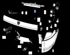 Feu arrière pour Lancia Voyager
