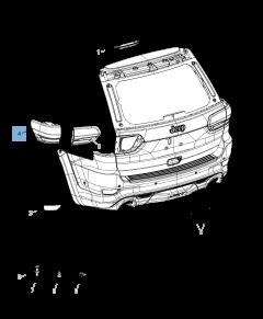 Ampoule feu arrière pour Jeep Grand Cherokee