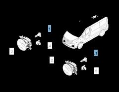Ampoule antibrouillard H16 pour Fiat Professional Talento