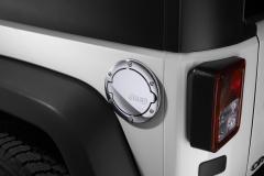 Bouchon de carburant chromé avec logo Jeep