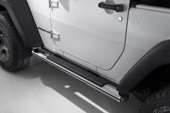 Marchepieds chromés pour plates-formes latérales situées sous la porte pour Jeep Wrangler