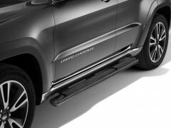 Marchepieds noirs pour plates-formes latérales situées sous la porte pour Jeep Grand Cherokee