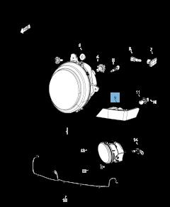 Ampoule indicateur de position et clignotant pour Jeep Compass/Patriot