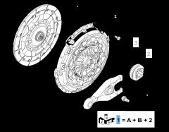 Kit embrayage (disque, plateau de pression et butée de débrayage) pour Fiat Professional Scudo