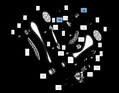 Tendeur de courroie réglable pour chaîne de distribution
