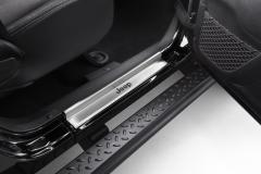 Barre de seuil en acier avec logo imprimé