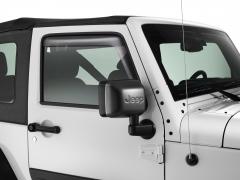 Déflecteurs d'air surteintés pour vitres latérales avant
