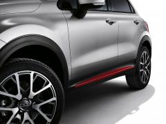 Finitions latérales rouges pour portes de Fiat 500X