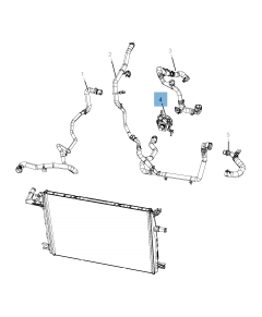 Pompe à eau, installation de refroidissement auxiliaire pour Jeep Wrangler